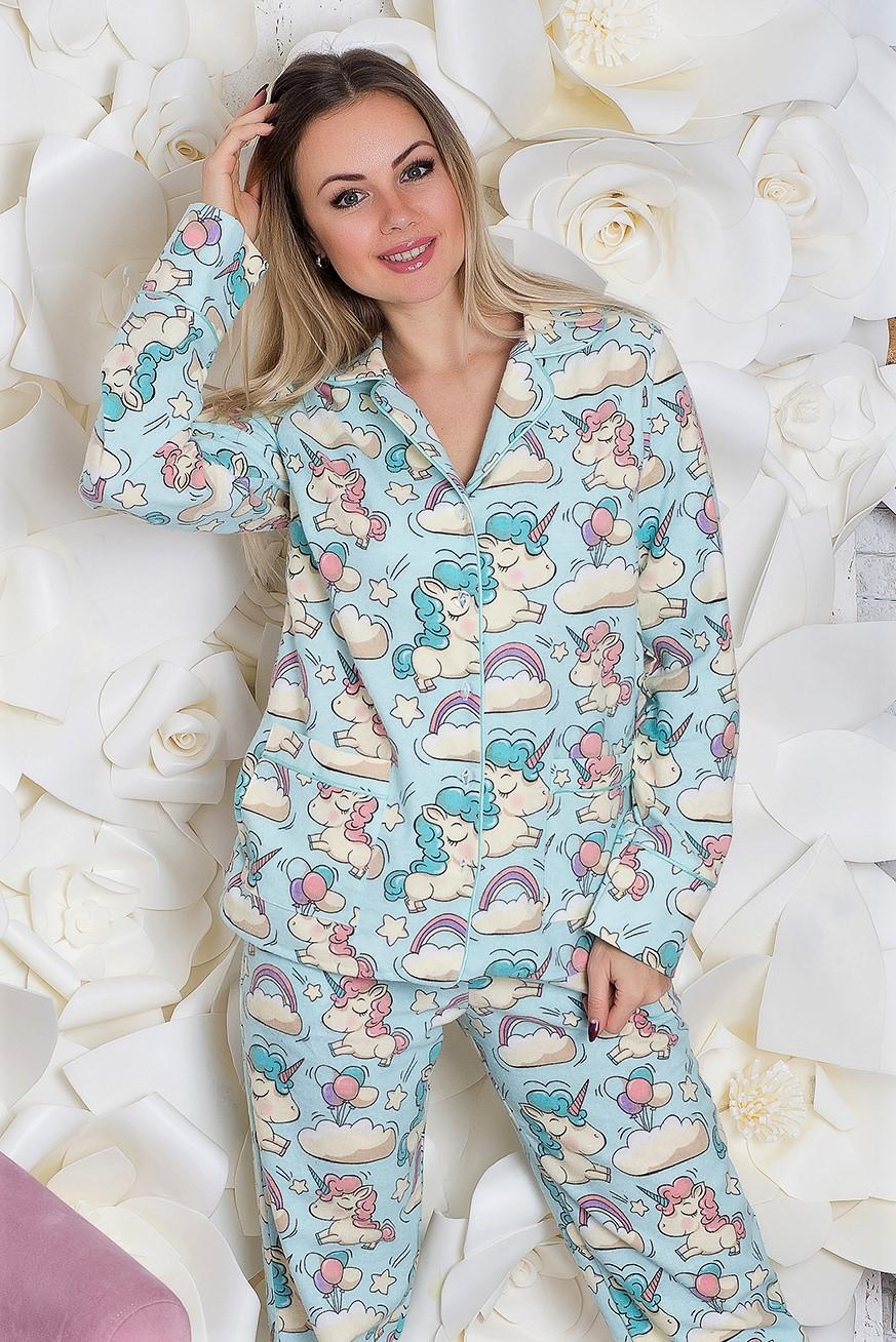 Пижама брючная П305 Единороги на голубом - купить в интернет ... 2910893dd0ec1