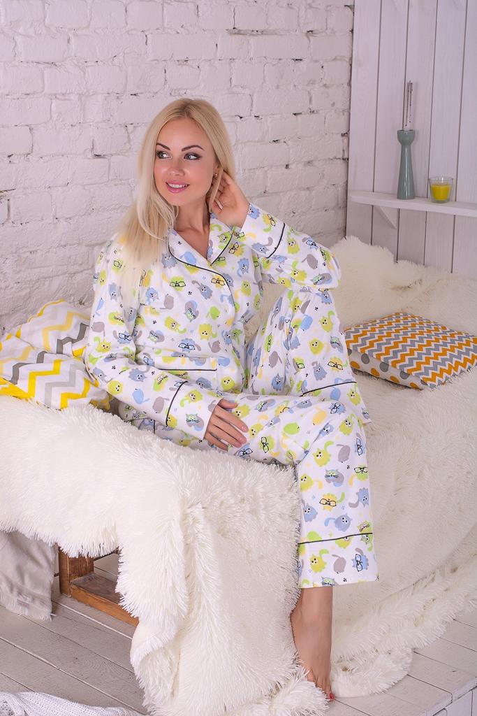 Пижама фланелевая MiaNaGreen П302 Котики - купить в интернет ... ece10d856462f