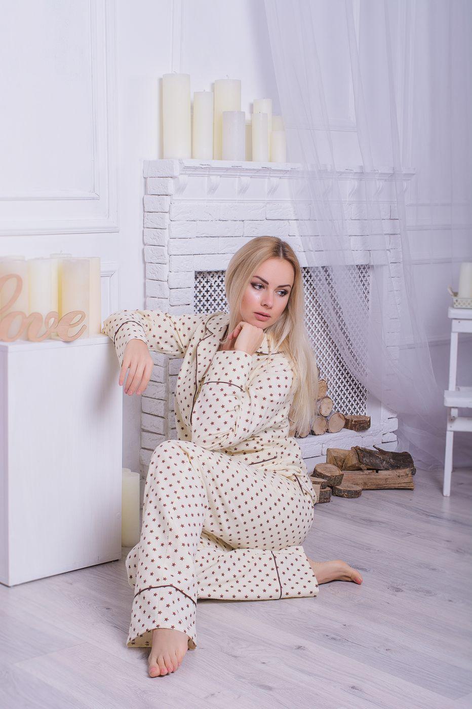 Пижама фланелевая MiaNaGreen П309 Шоколадные звезды - купить в ... 266a8afc8af0c