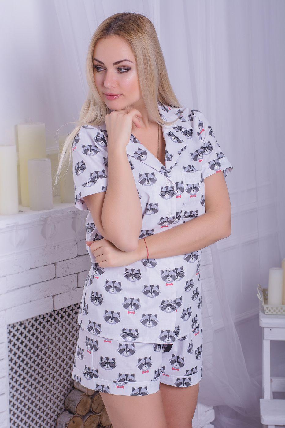 Хлопковая пижама MiaNaGreen П401 Еноты - купить в интернет-магазине ... d2629bc952b71