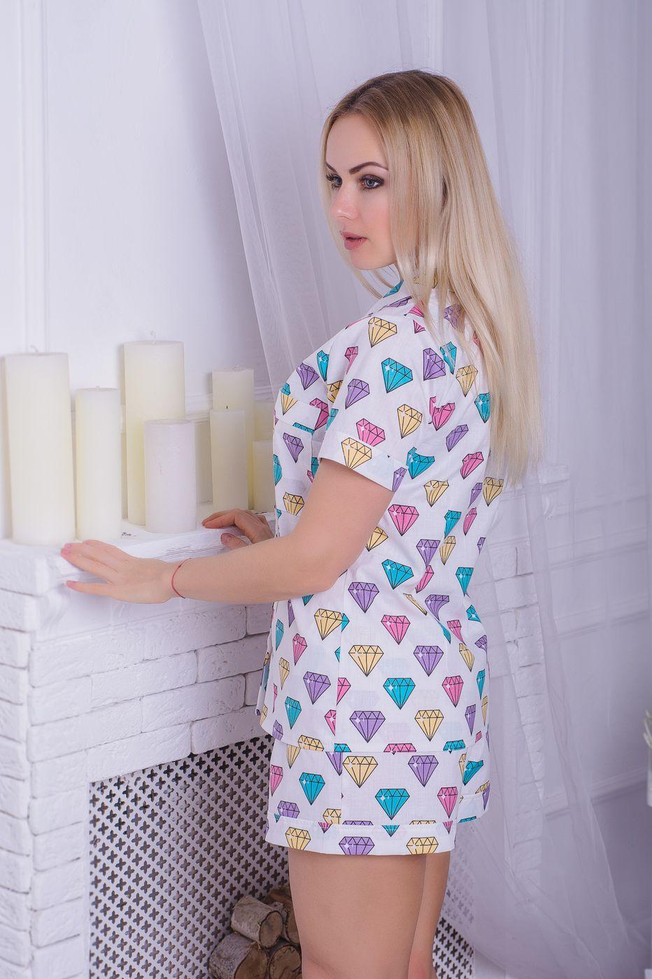 Хлопковая пижама MiaNaGreen П404 Диаманты - купить в интернет ... 934537c99b245