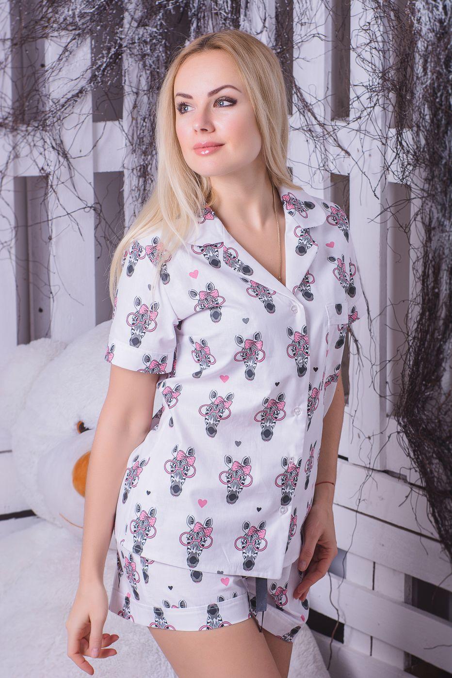 Хлопковая пижама MiaNaGreen П406 Зебры в очках - купить в интернет ... f5220e71355ce
