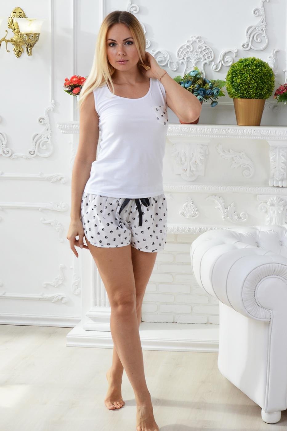 Хлопковая пижама П508 Лапки - купить в интернет-магазине MiaNaGreen 7501016618567