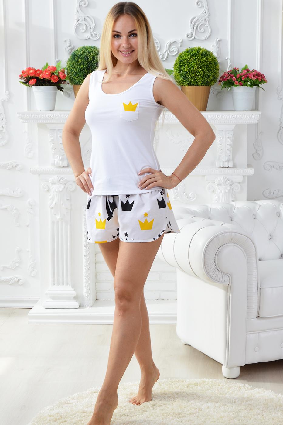 Хлопковая пижама П502 Короны - купить в интернет-магазине MiaNaGreen 99e25a4d43af2