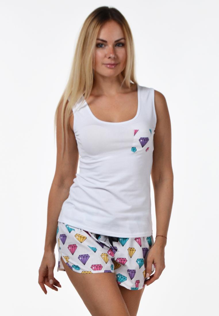Хлопковая пижама П504 Диаманты - купить в интернет-магазине MiaNaGreen 141fc5ac8d4a3